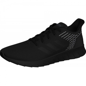 Adidas Black Lace Up Mesh Running Shoes