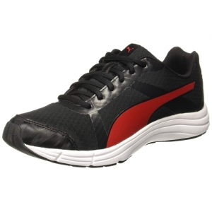 Puma Voyager IDP Black Mesh Lace Up Running Shoes