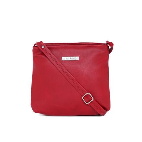 DressBerry Red Solid Sling Bag