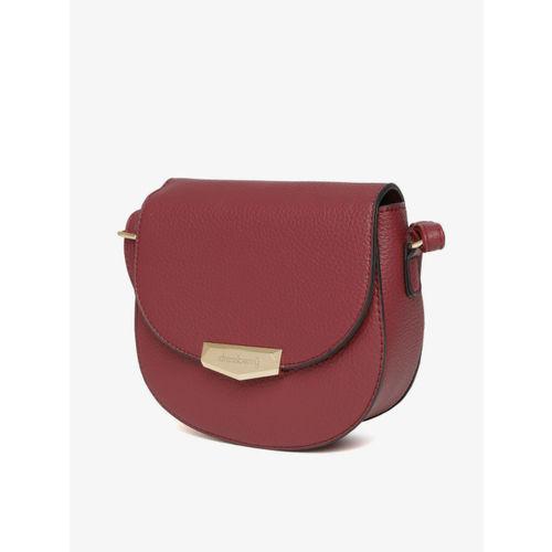 DressBerry Burgundy Solid Sling Bag