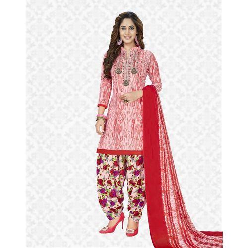 Divastri Poly Crepe Floral Print Salwar Suit Material