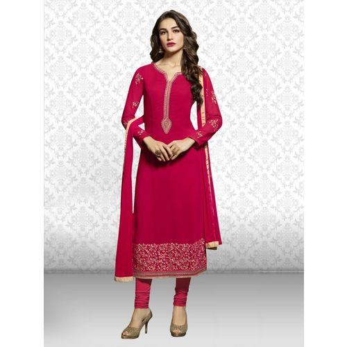 Divastri Georgette Embroidered Salwar Suit Material(Unstitched)