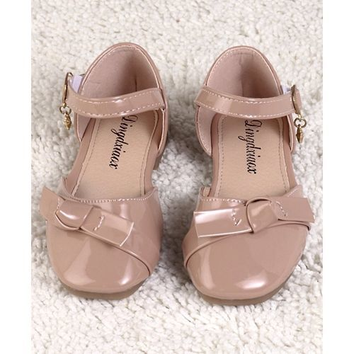 Kidlingss Bow Applique Ankle Straps Mary Jane - Pink
