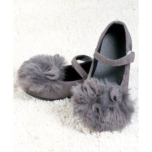 Kidlingss Bunny Ears Embellished Mary Jane - Grey