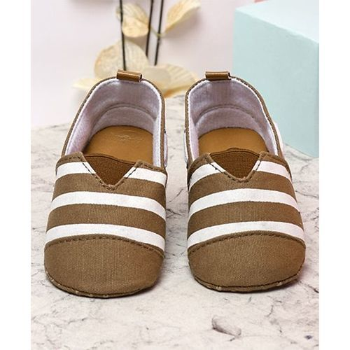Kidlingss Slip-on Style Striped Booties - Brown