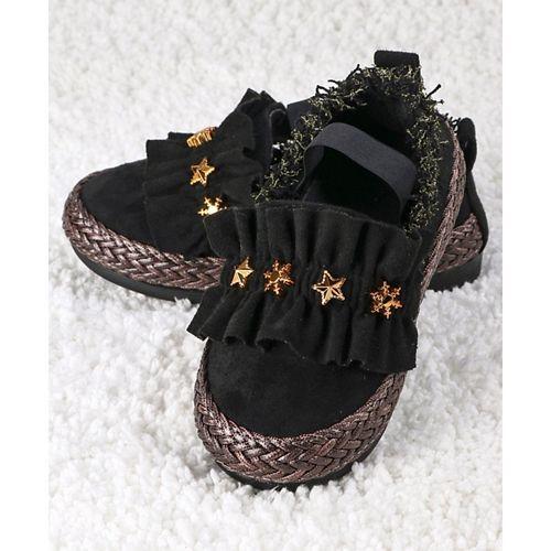 Kidlingss Metal Star Embellishment Slip-Ons - Black