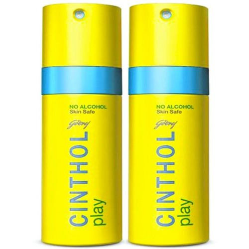 Cinthol Play Deodorant 150 ml Combo Deodorant Spray - For Men & Women(300 ml, Pack of 2)