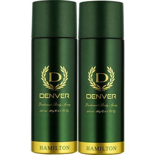 Denver Hamilton Combo Deodorant Spray - For Men(400 ml, Pack of 2)