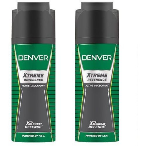Denver Xtreme Reverence Active Deodorant X2 Sweat Defence 150ML Each Body Spray - For Men & Women(300 ml, Pack of 2)