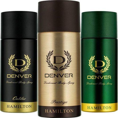 Denver Hamilton, Prestige & Caliber Deodorant Body Spray 165ML Each Combo Body Spray - For Men & Women(495 ml, Pack of 3)