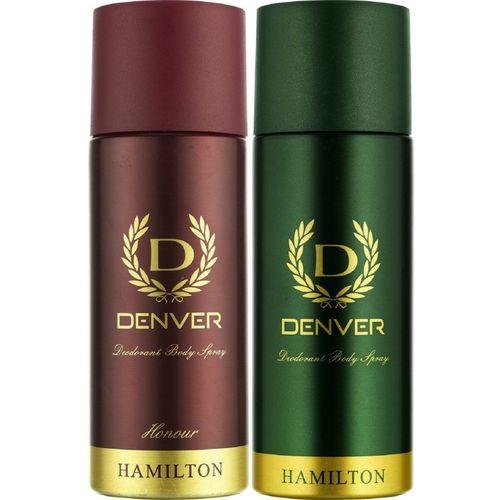 Denver HAMILTON + HONOUR Deodorant Spray - For Men(165 ml, Pack of 2)