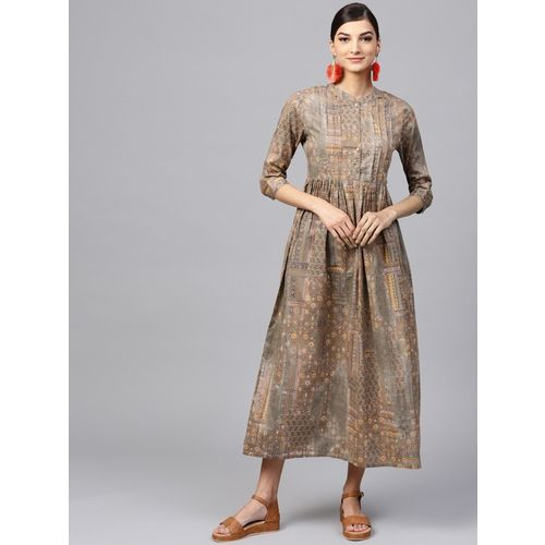 Indo Era Women Printed A-line Kurta(Multicolor)