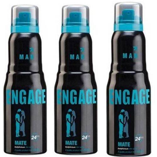 Engage Combo of 3 Mate Deodorant Spray - For Men(150 ml, Pack of 3)