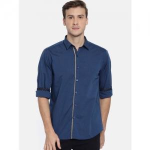 b0e0381c6925 Buy Arrow Blue Jean Co. Men Black Slim Fit Solid Casual Shirt online ...