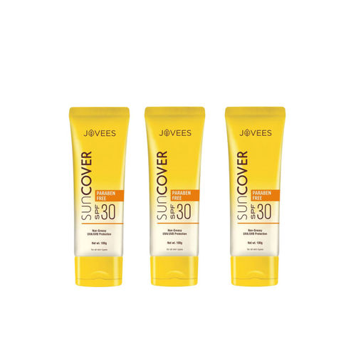 Jovees Unisex Pack of 3 Sun Cover Natural Protection SPF 30 100g each