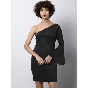 FabAlley Women Black Solid Sheath Dress
