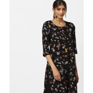 AVAASA MIX N' MATCH Floral Print High-Low Straight Kurta