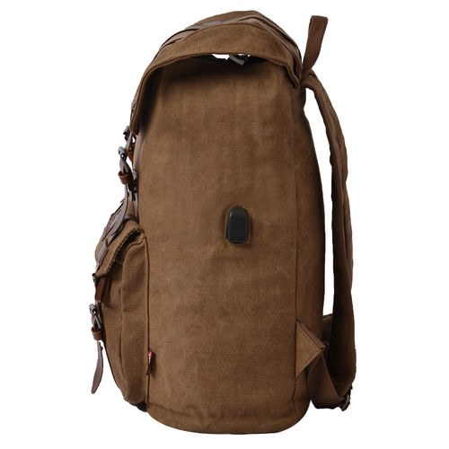 F Gear Colosal 22 Ltrs Brown Canvas Backpack
