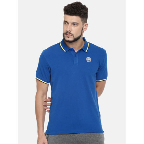 Pepe Jeans Men Blue Solid Polo T-shirt