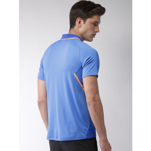 Nike Men Blue AS BCCI M ODI STDM JSY SS Printed DRI-FIT Polo Collar T-shirt
