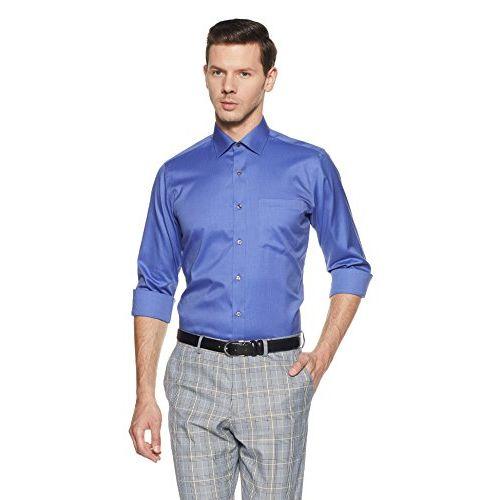 Van Heusen Men's Solid Regular Fit Formal Shirt