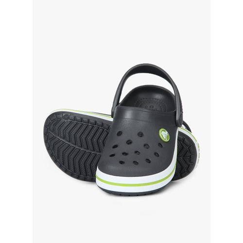 crocs Unisex's Crocband K Graphite or Volt Green Clogs-C7 (204537)