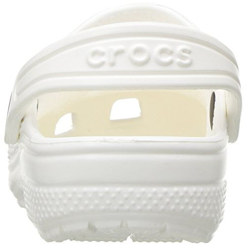 crocs Unisex's White Classic K Clogs
