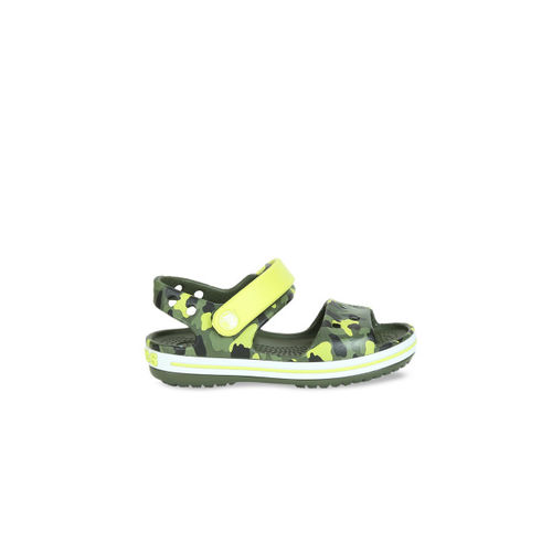Crocs Boys Olive Green Sandals