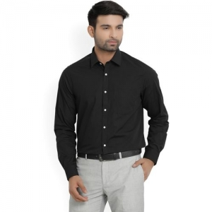 Blackberrys Men Solid Formal Black Shirt