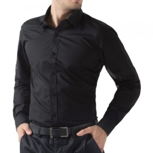 FILAFIL Men Solid Formal Black Shirt