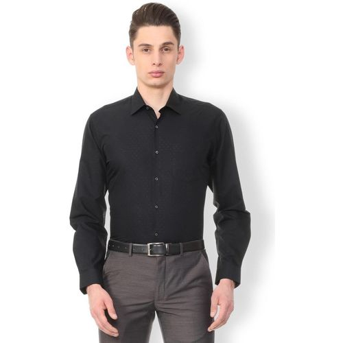 Van Heusen Men Printed Formal Black Shirt