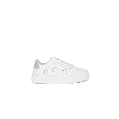 United Colors of Benetton Boys & Girls Lace Sneakers(White)