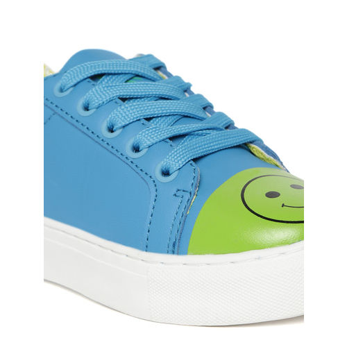 United Colors of Benetton Boys & Girls Lace Sneakers(Blue)