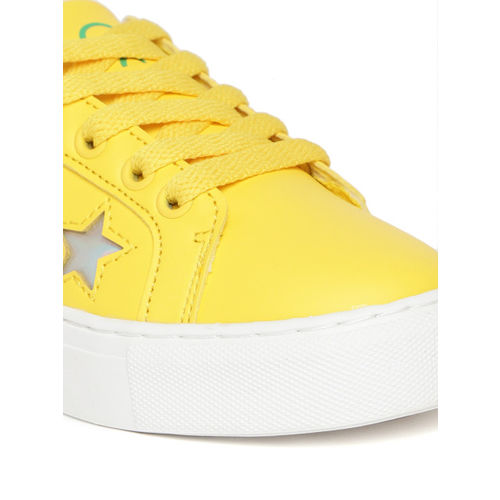 United Colors of Benetton Unisex Yellow Sneakers