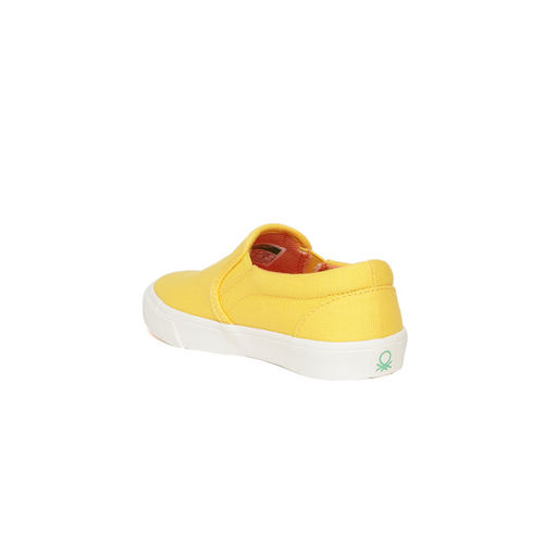 United Colors of Benetton Kids Yellow Slip-Ons