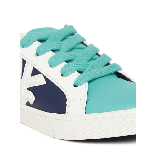 United Colors of Benetton Unisex Navy & Teal Blue Colourblocked Sneakers