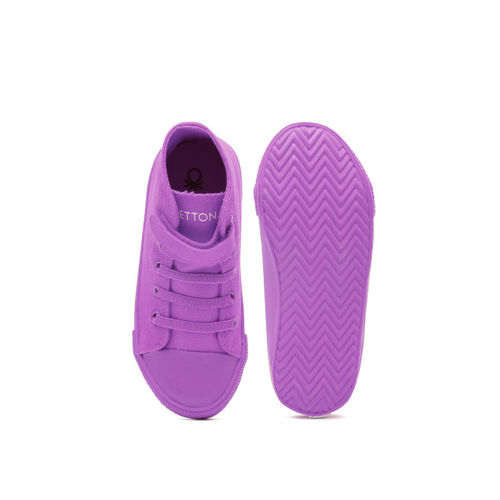 United Colors of Benetton Boys Purple Solid Sneakers