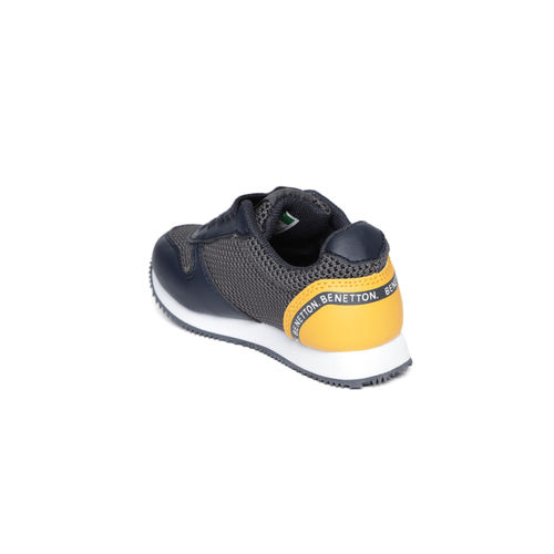 United Colors of Benetton Kids Navy Blue & Charcoal Grey Sneakers