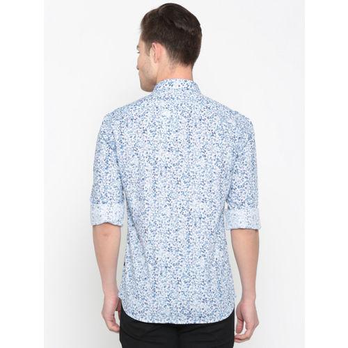 Parx Men Blue & White Slim Fit Printed Casual Shirt