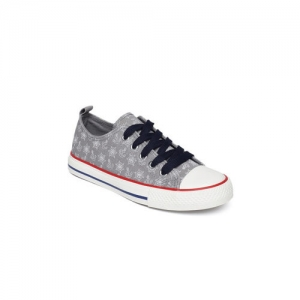 Fame Forever by Lifestyle Boys Grey Printed Sneakers