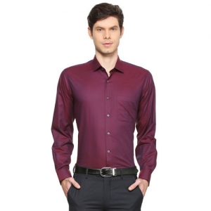 Van Heusen Men Maroon Regular Fit Printed Formal Shirt