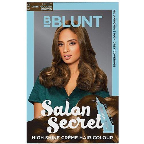 BBlunt Salon Secret High Shine Creme Hair Color(Honey Light Golden Brown 5.32)