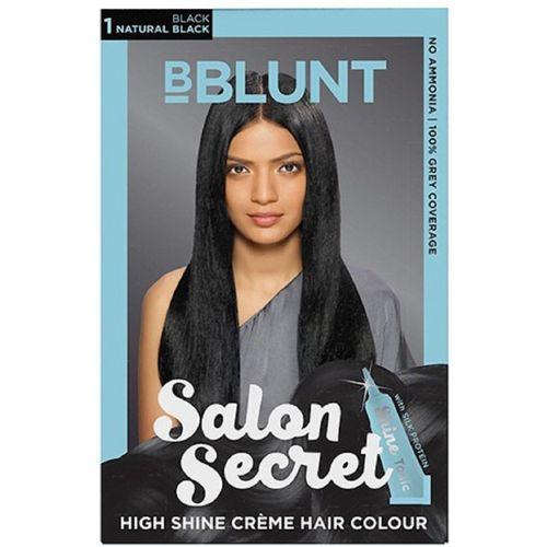 BBlunt High Shine Creme Hair Color(NATURAL BLACK)