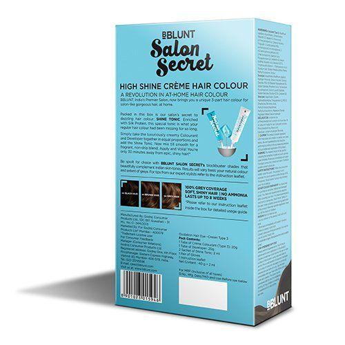 BBLUNT Salon Secret High Shine Crme Hair Colour, Dark Brown 3,40g