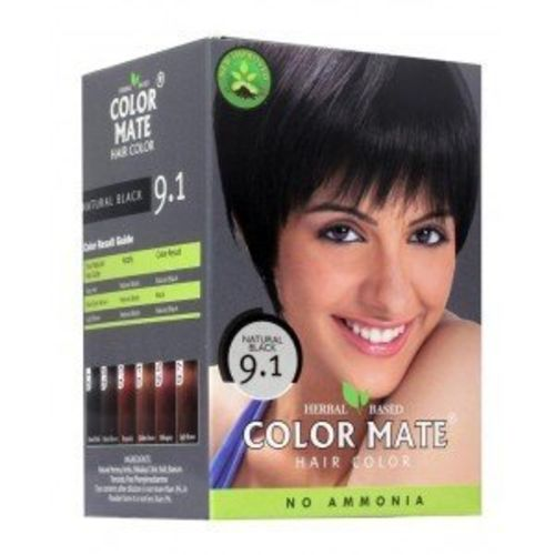 Color Mate Herbal Based Ammonia Free Hair Color with Ayur Product in Combo