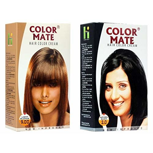 Color Mate Hair Color Cream Light Blonde + Natural Black