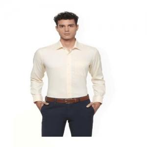 6dbebaf3b10aca Buy Blackberrys Mustard Yellow Printed Slim Fit Formal Shirt online ...