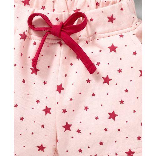 Olio Kids Shorts With Drawstring Star Print - Peach
