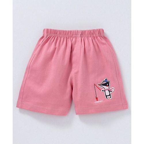 Mini Taurus Shorts Animal Embroidery - Pink