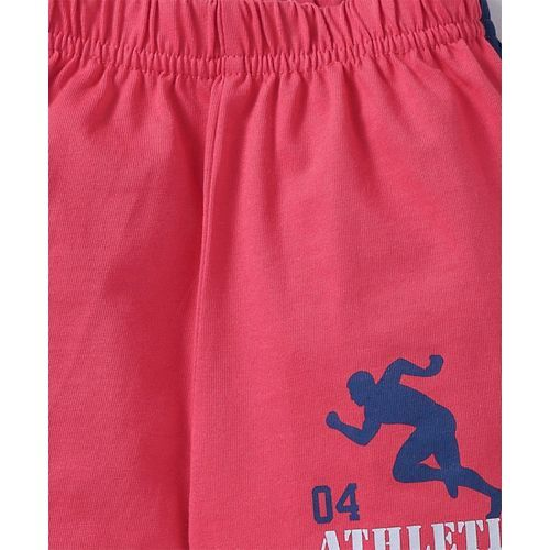 Doreme Solid Shorts Rugby Print - Coral